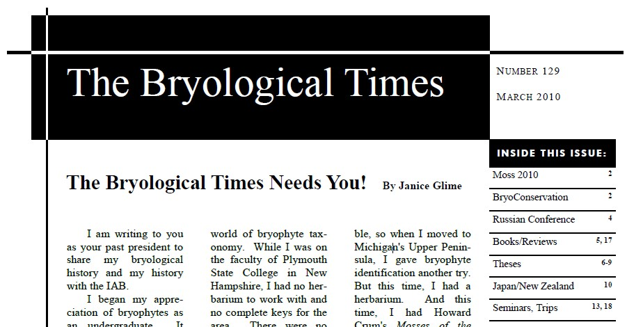 The Bryological Times